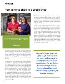 The Foor's of Loose Shoe Brewing in Amherst, Virginia started their business in 2014.